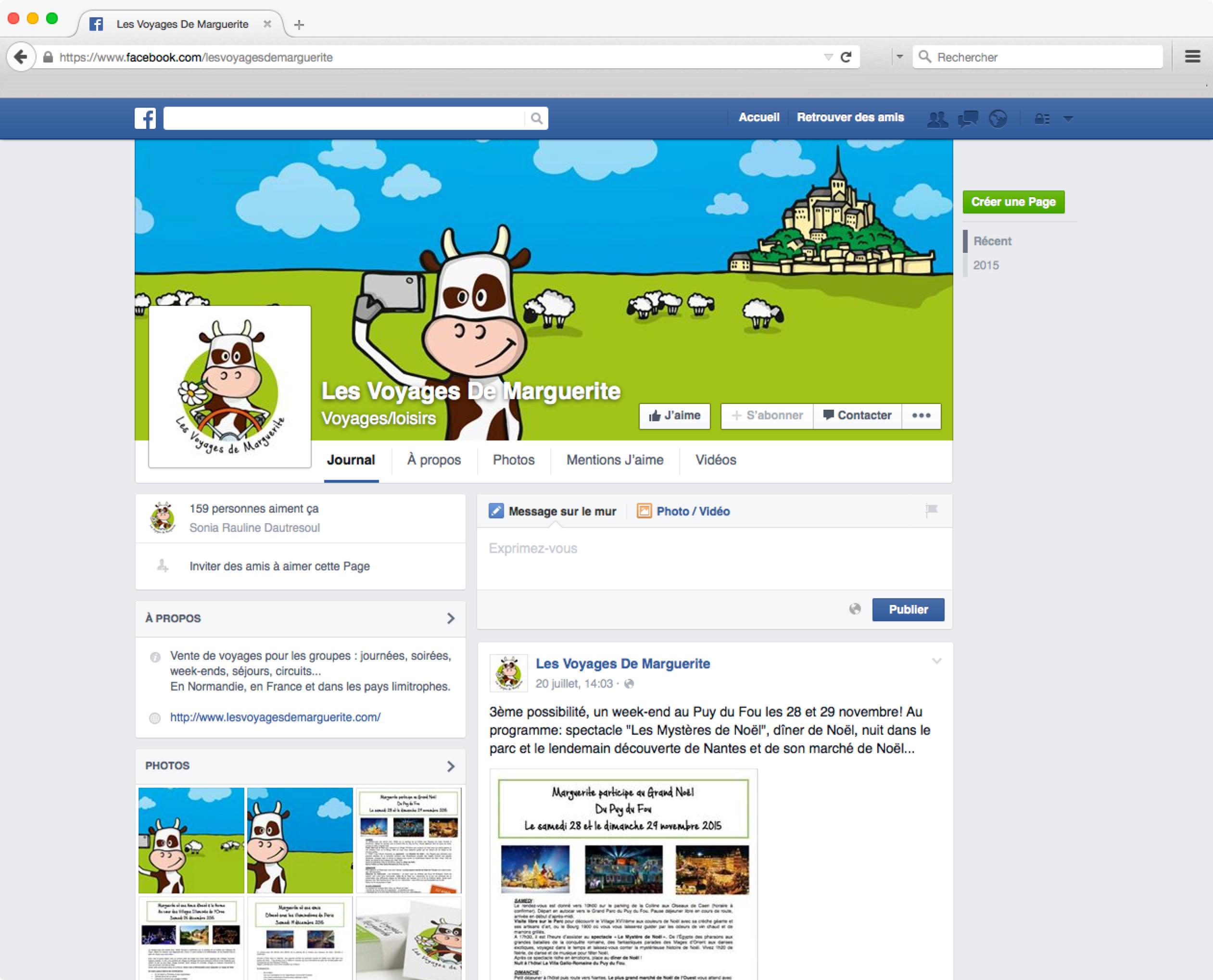 Marguerite sur Facebook
